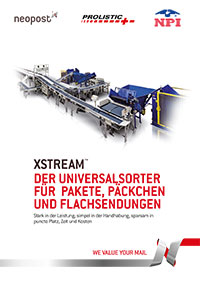 XSTREAM™ – Der Universalsorter für Pakete, Päckchen und Flachsendungen