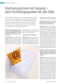 Mailmanagement mit Neopost – dem Technologiepartner für alle Fälle