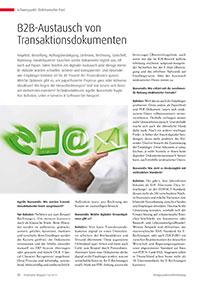 B2B-Austausch von Transaktionsdokumenten