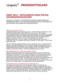 CeBIT 2014 - Intelligente Wege für die Kundenkommunikation