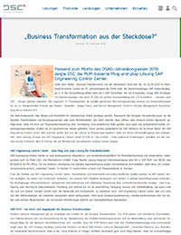 """Business Transformation aus der Steckdose?"""