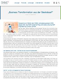 """""""Business Transformation aus der Steckdose?"""""""