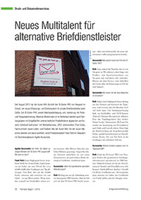 Neues Multitalent für alternative Briefdienstleister