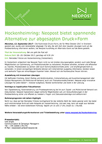 Hockenheimring: Neopost bietet spannende Alternative zur abgesagten Druck+Form